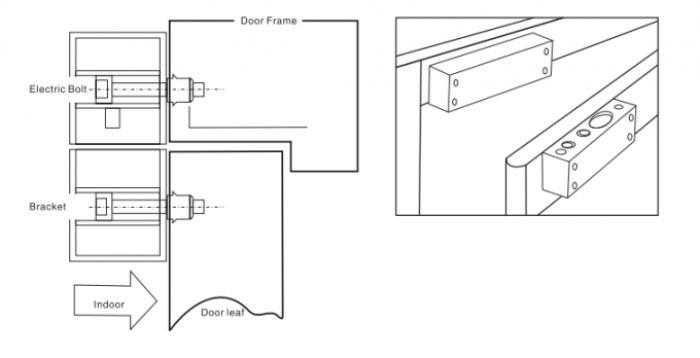 Cách lắp khóa chốt điện từ cho cửa kính ONECAM DSL-322