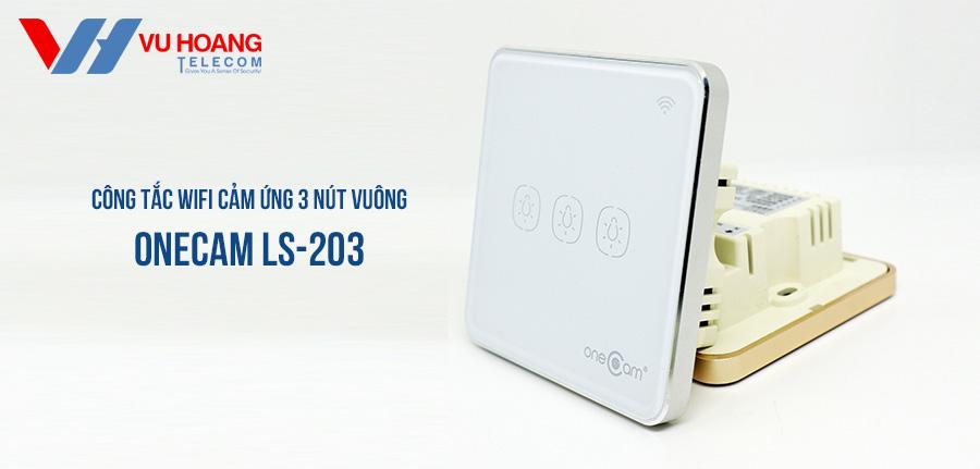 Công Tắc Wifi Cảm Ứng 3 Nút Vuông ONECAM LS-203