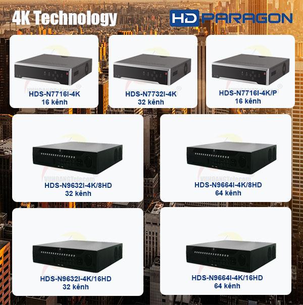 đầu ghi hình 4K HDParagon -3