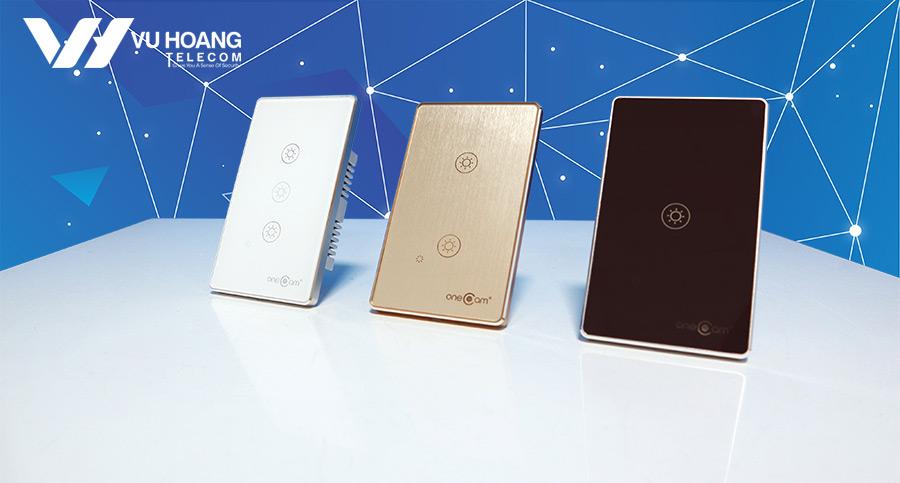 Công tắc Wifi cảm ứng chạm 3 nút ONECAM hình chữ nhật chất lượng cao