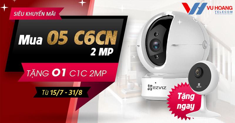 Khuyến mãi camera EZVIZ Mua 5 tặng 1 tại Vuhoangtelecom