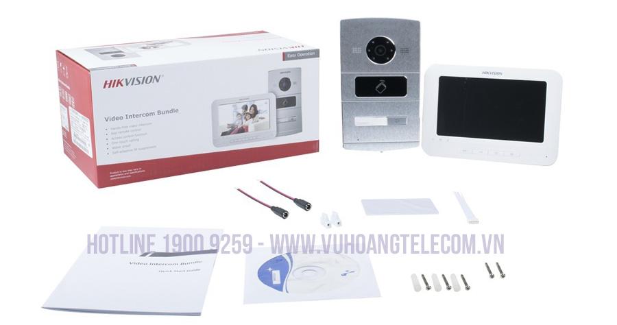 Bộ chuông cửa màn hình IP HIKVISION DS-KIS601 chất lượng
