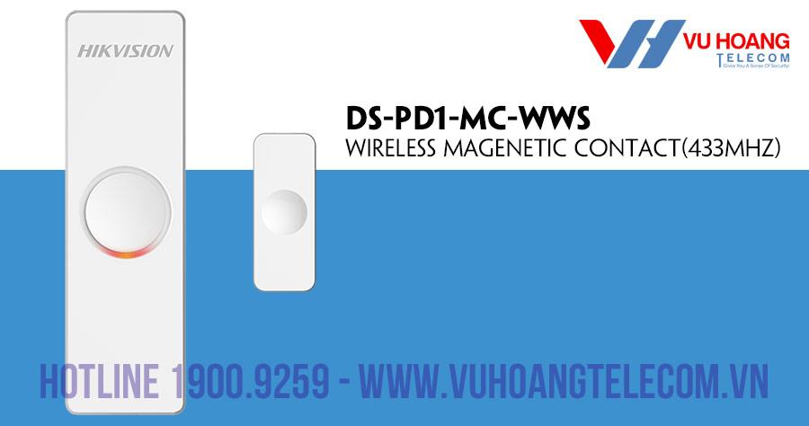 Công tắc cửa từ không dây HIKVISION DS-PD1-MC-WWS