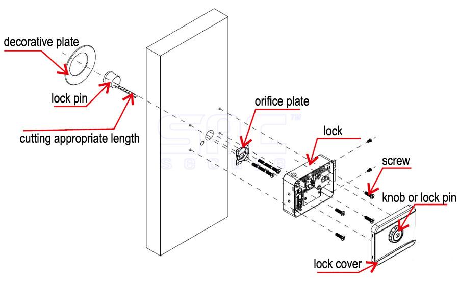 Cách lắp đặt khóa chốt cửa điện từ ONECAM DL-03GR-P