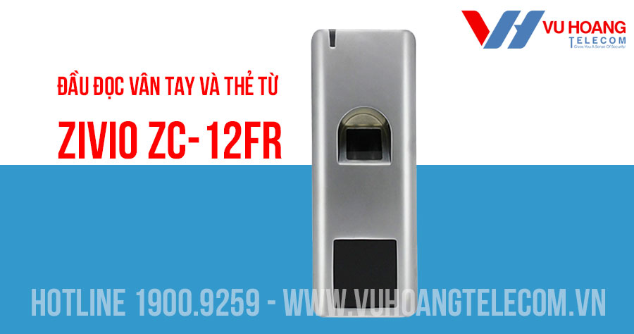 Đầu đọc vân tay và thẻ từ có dây ZIVIO ZC-12FR