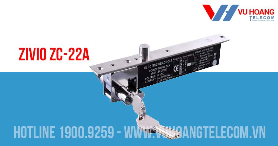 Khóa chốt cửa tự động có ổ khóa cơ ZIVIO ZC-22A