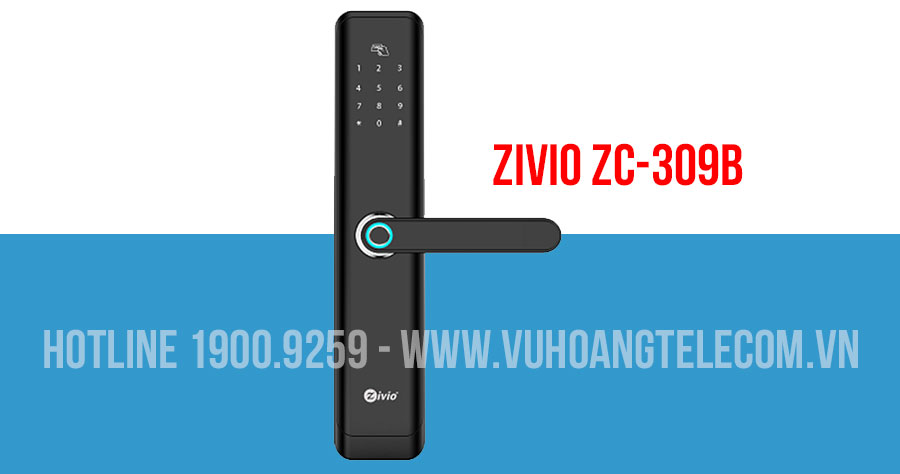 Khóa cửa vân tay cho cửa gỗ ZIVIO ZC-309B