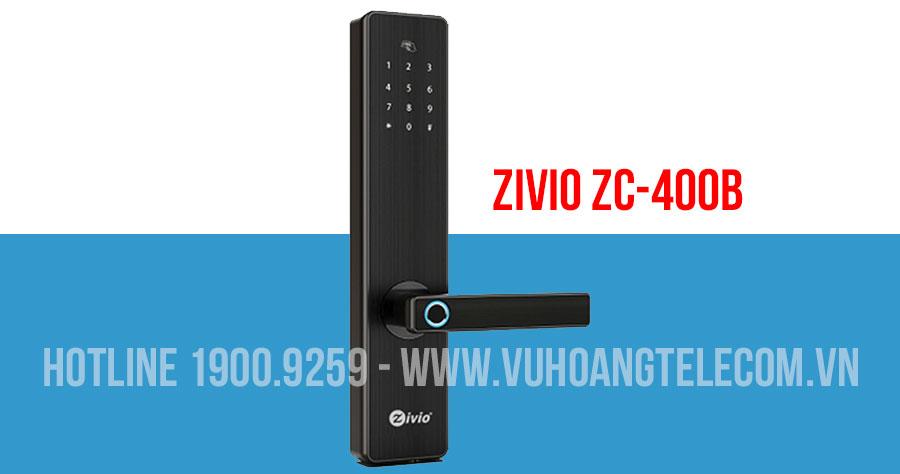 Khóa cửa vân tay Bluetooth cho cửa gỗ ZIVIO ZC-400B