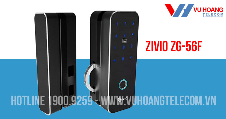Khóa cửa vân tay cho cửa kính lùa ngang ZIVIO ZG-56F