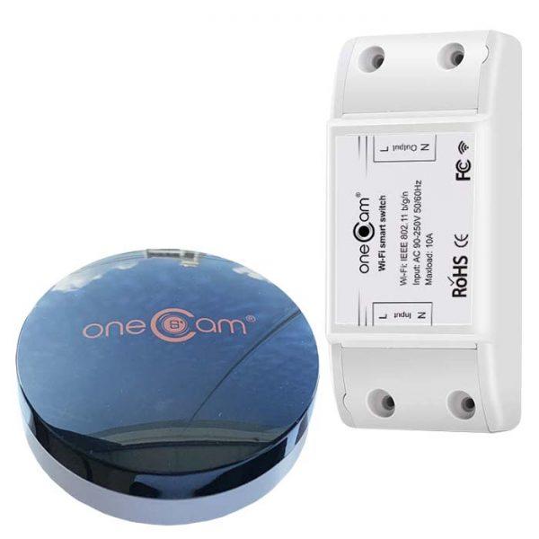 Combo công tắc Wifi + điều khiển hồng ngoại Onecam Smart IRC-01 WIFI