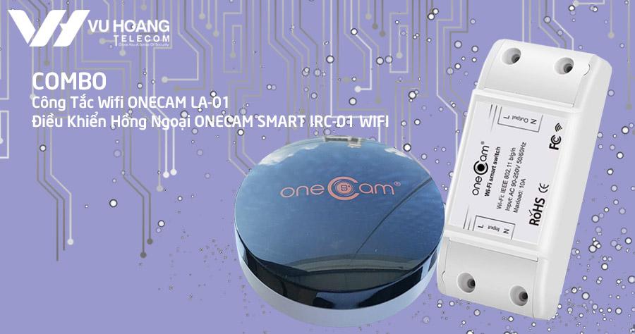 Combo công tắc Wifi ONECAM LA-01 + điều khiển hồng ngoại Onecam Smart IRC-01 WIFI