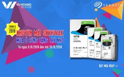 Khuyến mãi mua ổ cứng Skyhawk tặng thẻ nhớ tháng 8