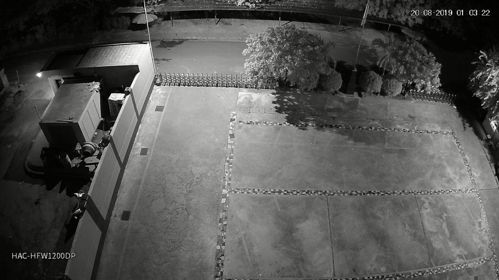 Hình ảnh camera HAC-HFW1200DP ghi lại lúc 01h00 sáng