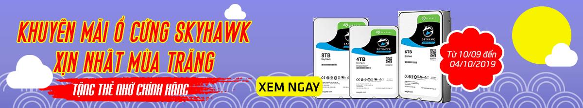 Khuyến mãi ổ cứng Skyhawk tặng thẻ nhớ