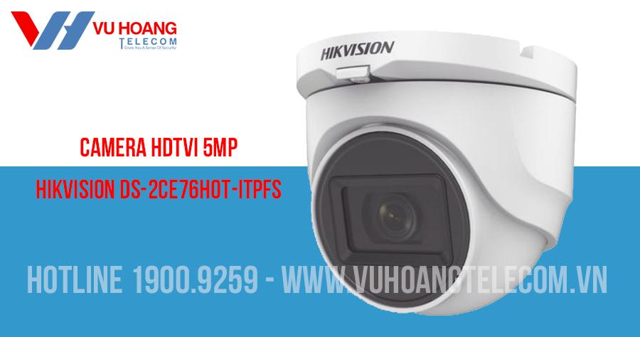 Camera HDTVI 5MP có mic HIKVISION DS-2CE76H0T-ITPFS