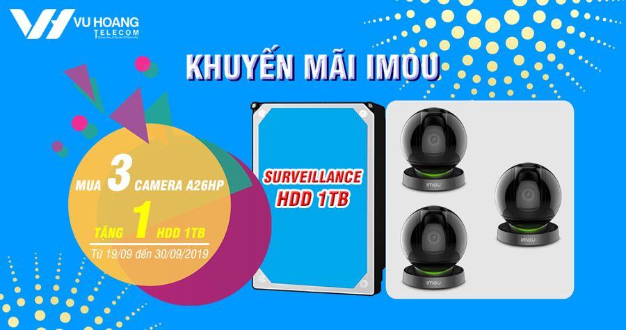 Khuyến mãi camera Imou tặng ổ cứng 1TB chính hãng