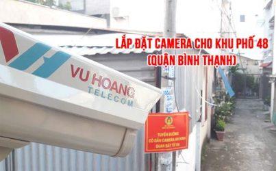 Công trình lắp đặt camera khu phố 48