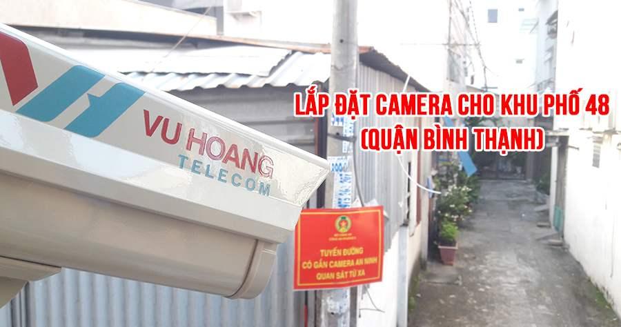 Công trình lắp đặt camera khu phố 48 quận Bình Thạnh