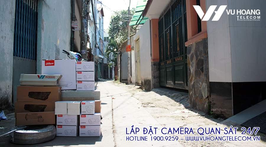 Sản phẩm camera DAHUA + Phụ kiện kèm theo công trình