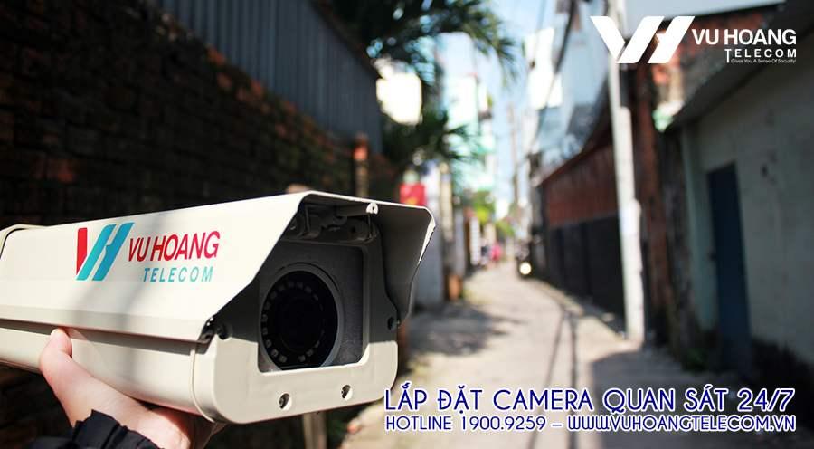 Hẻm 48 Trần Bình Trọng dài hơn 600m nên các vị trí lắp camera phân chia ghi hình giám sát đầy đủ các góc.