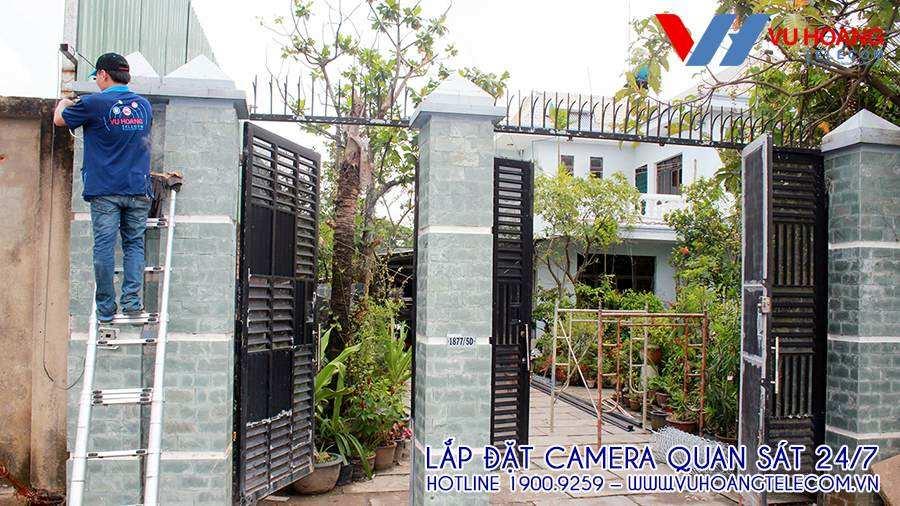 Ngôi nhà có diện tích rộng nên cần camera giám sát bao quát xa