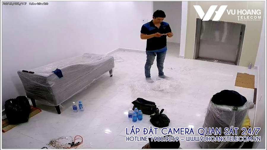 Vị trí camera quan sát ở phòng làm việc