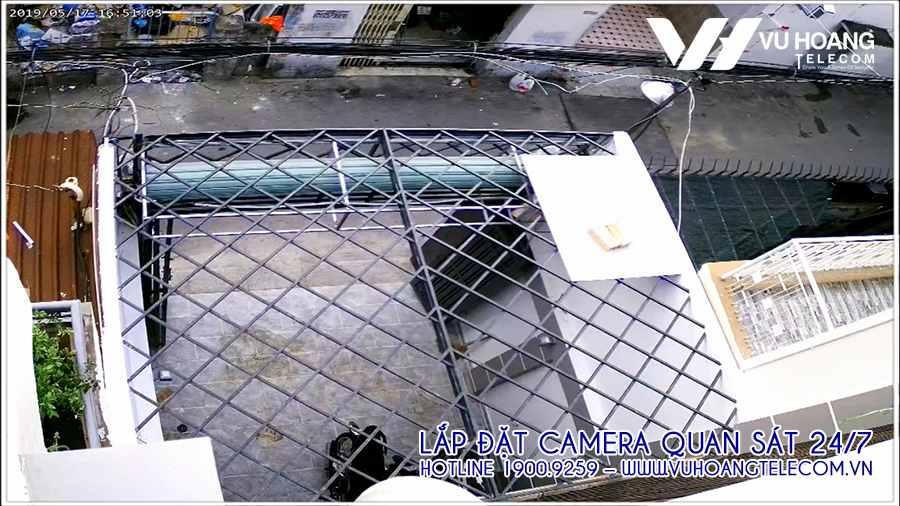 Vị trí camera quan sát ở khu vực ban công ngoài trời