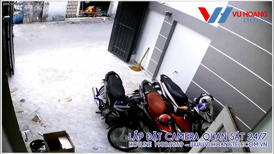 Vị trí camera quan sát ở khu vực để xe