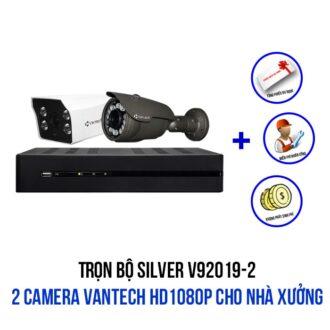 Lắp đặt trọn bộ camera VANTECH HD1080P cho nhà xưởng gói SILVER V92019-2
