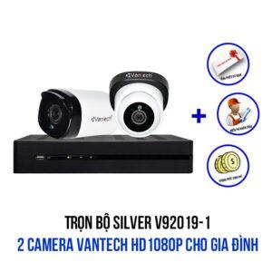Lắp đặt trọn bộ camera VANTECH HD1080P gói SILVER V92019-1