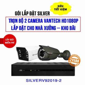 Trọn bộ camera VANTECH HD1080P cho nhà xưởng (SILVER V92019-2)