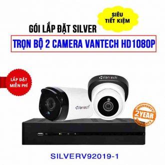 Trọn bộ 2 camera VANTECH HD1080P (gói SILVER V92019-1) giá rẻ