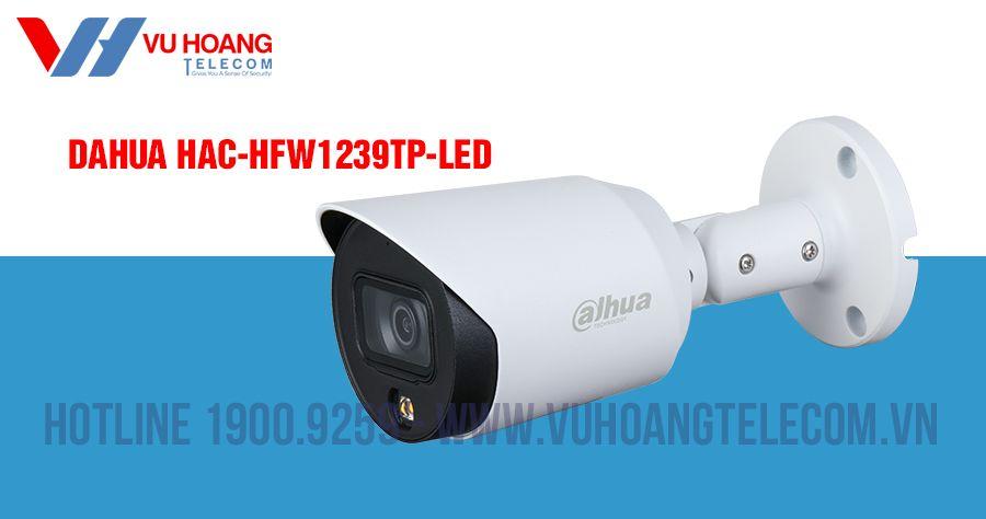 Camera HDCVI 2MP Full Color DAHUA HAC-HFW1239TP-LED