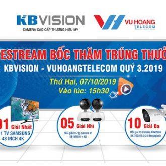 Công bố trúng thưởng CTKM KBVISION Quý 3-2019