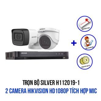 Lắp đặt bộ camera HIKVISION HD1080P có Mic gói SILVER H112019-1