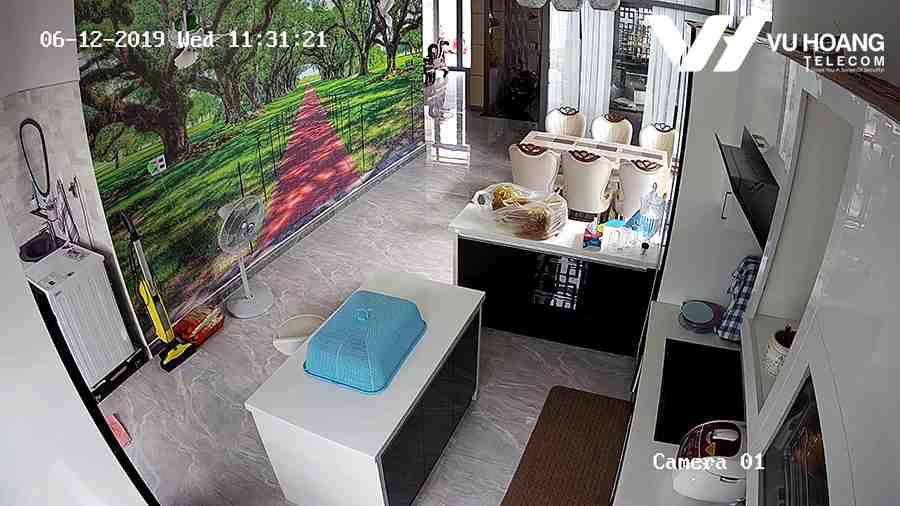 Lắp đặt camera HIKVISION HD1080P có tích hợp Mic trong nhà