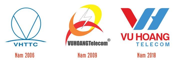 Mẫu logo Vuhoangtelecom thay đổi qua từng thời kỳ