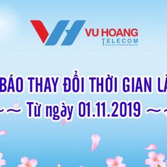 Thông báo thay đổi giờ làm việc tại Hà Nội