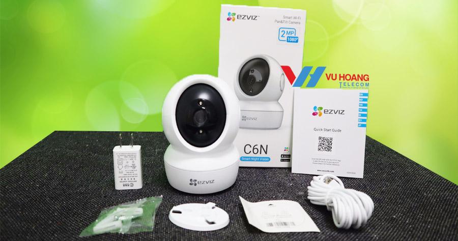 Full hộp camera Ezviz C6N và phụ kiện đi kèm