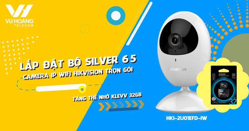 Hikvision HKI-2U01EFD-IW trọn gói Silver 65