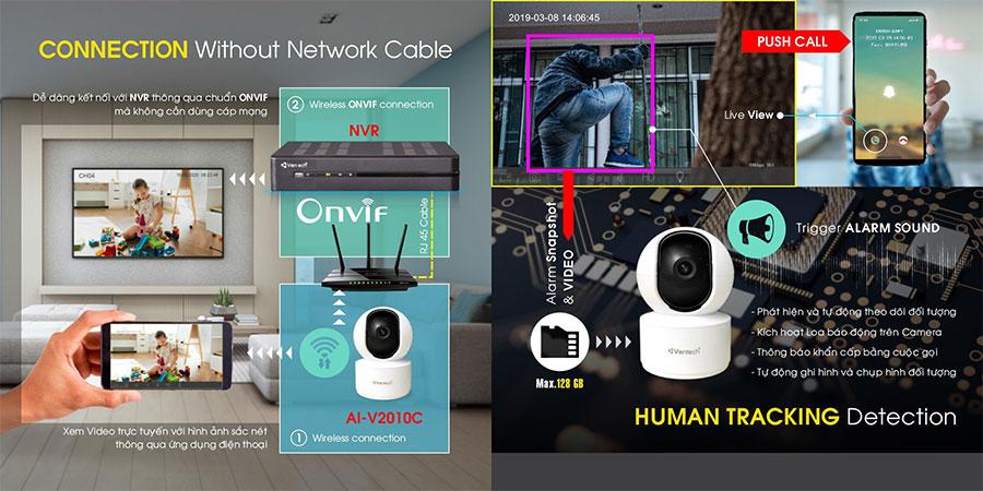 Camera AI Wifi 4MP VANTECH AI-V2010C chất lượng