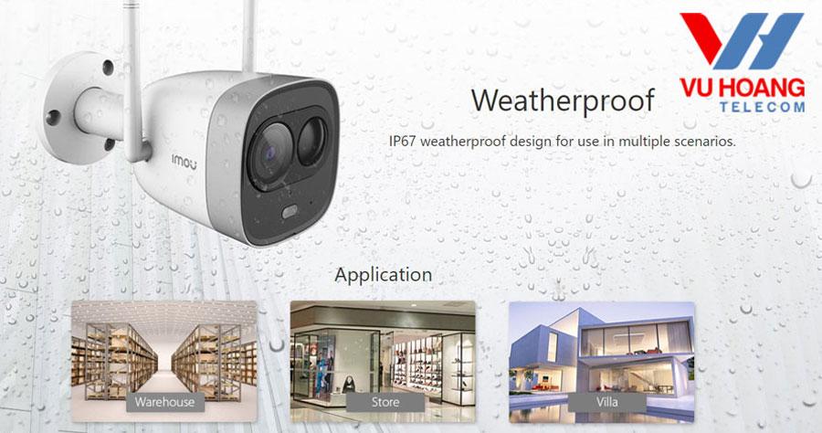 Camera G26EP tích hợp còi hú và đèn chiếu sáng