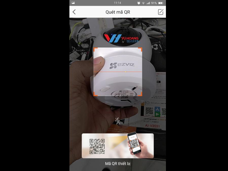Quét mã QR trên camera Ezviz C6N