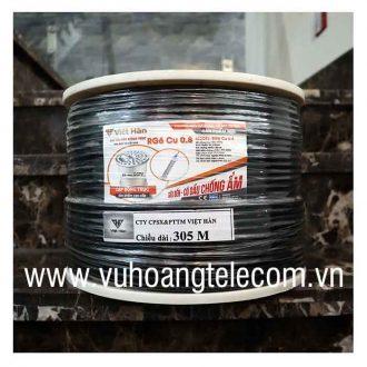 Cáp đồng trục có dầu Việt Hàn RG6 Cu 0.8
