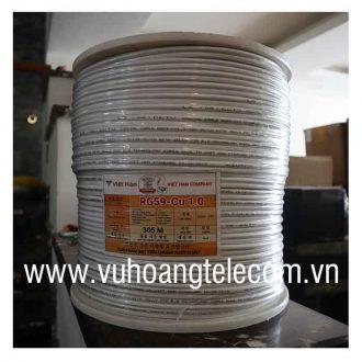 Cáp đồng trục liền nguồn Việt Hàn RG59-Cu 1.0
