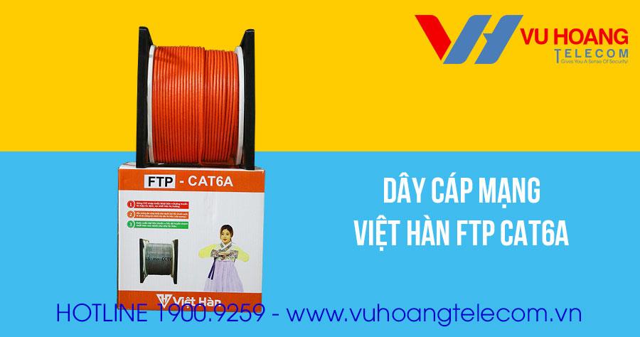 Dây cáp mạng Việt Hàn FTP CAT6A vỏ màu cam