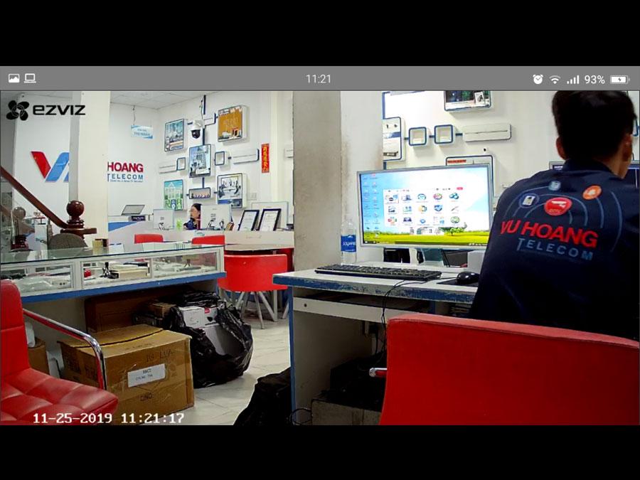 Hình ảnh camera Ezviz C6N xem qua điện thoại