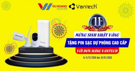 Tặng pin sạc dự phòng khi mua camera VANTECH