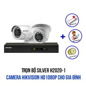 Lắp trọn bộ camera HIKVISION HD1080P gói SILVER H2020-1
