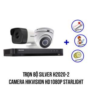 Lắp bộ camera HIKVISION HD1080P gói SILVER H2020-2